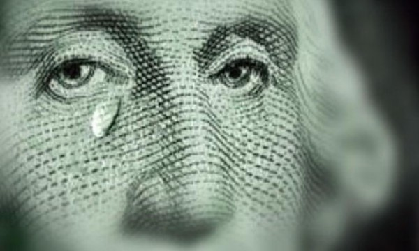 плачущий доллар